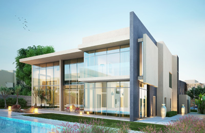Tdic launches modern villa project in uae for Modern house uae