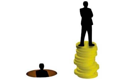gap between rich and poor is widening
