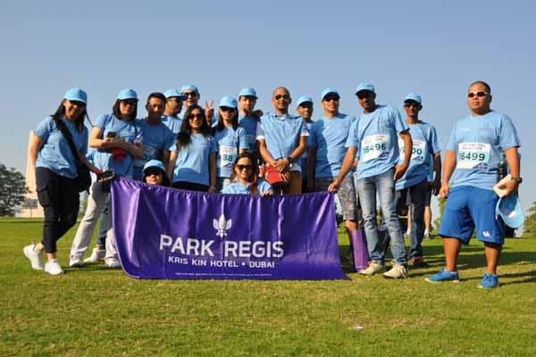 Park regis dubai team takes part in diabetes walk for Beat hotel in dubai