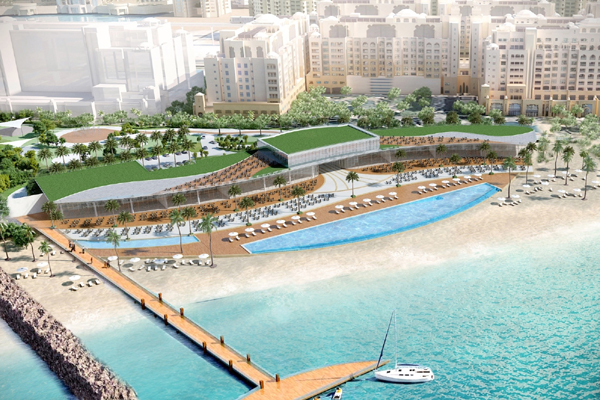 A rendering of the The St. Regis Beach Club