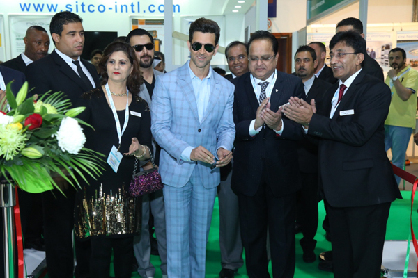 Roshan opening the company pavilion at The Big 5 expo in Dubai.