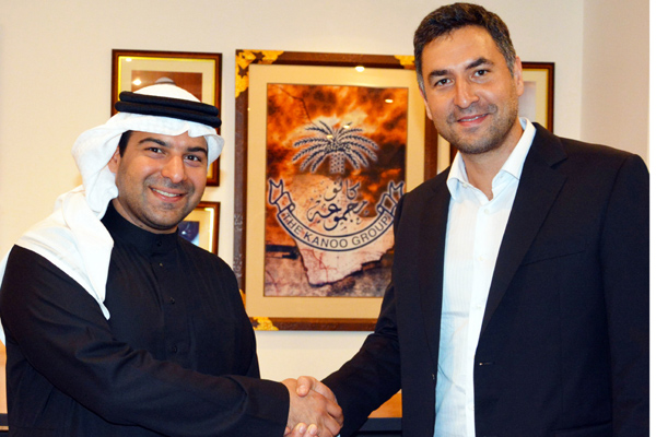 Fahad Fawzi Kanoo and Idris Al-Rifai (right)