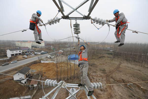 China's installed power capacity rises