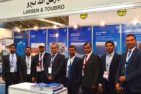 L&T team at the company's stand at Saudi Elenex.