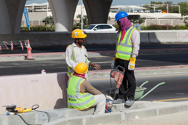 midday break The uae on tuesday announced the summer midday break period and timings, during which labourers, construction workers and other out-of-office workers will be prohibited from working the break .