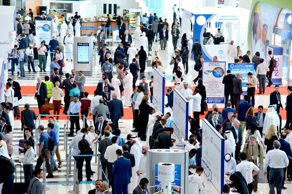 A view from the Adipec exhibition last year.