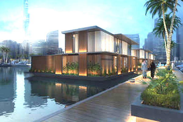 Gulf construction online admares readies 39 floating 39 villas for dubai development - The floating homes of dubai luxury redefined ...