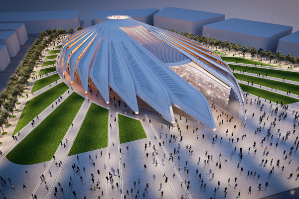 An artist's impression of the UAE pavilion at the Expo.