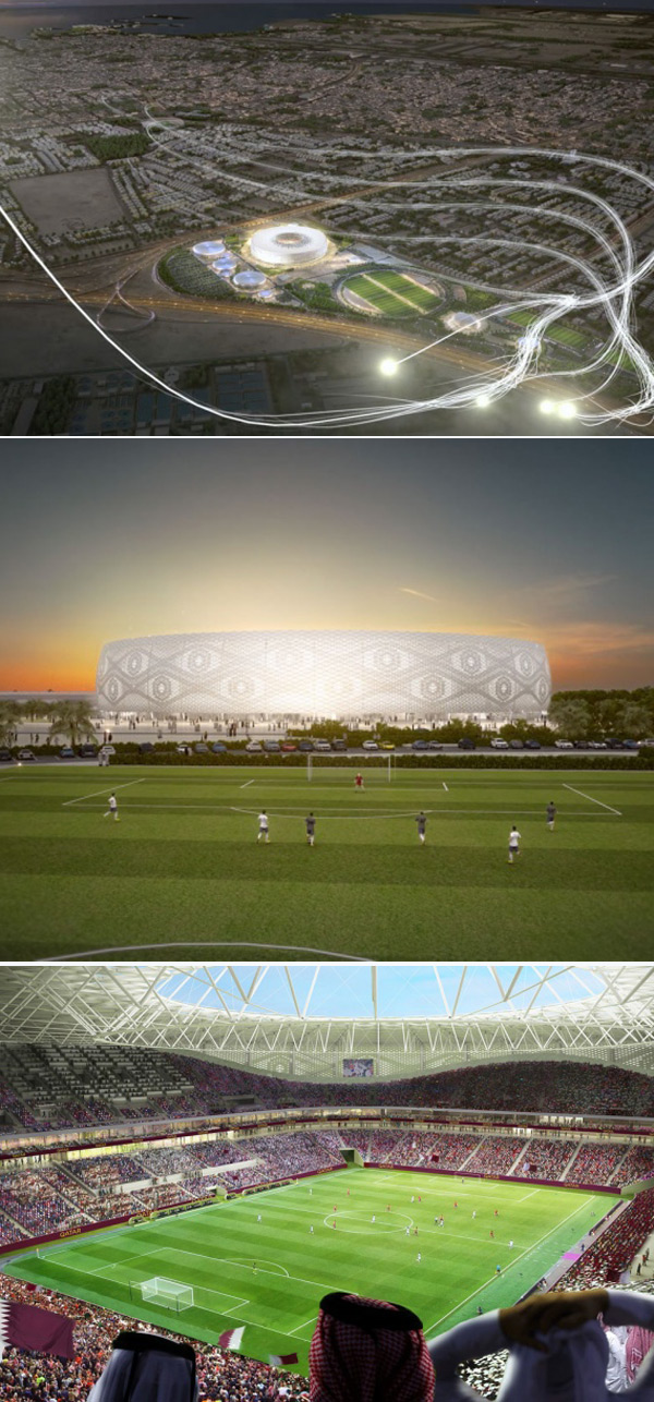 An artist's impression of the new stadium.