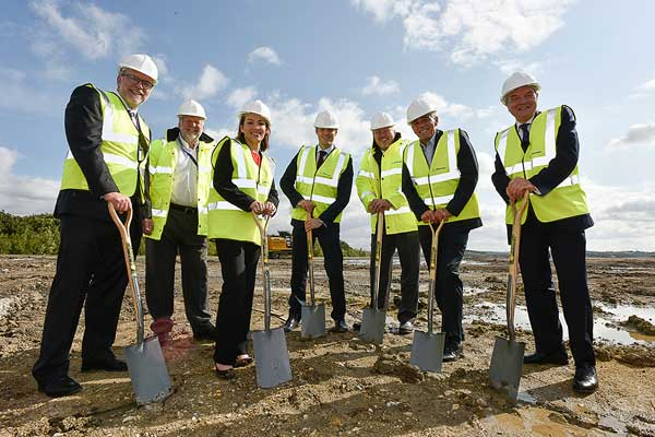 Officials at the ground breaking ceremony