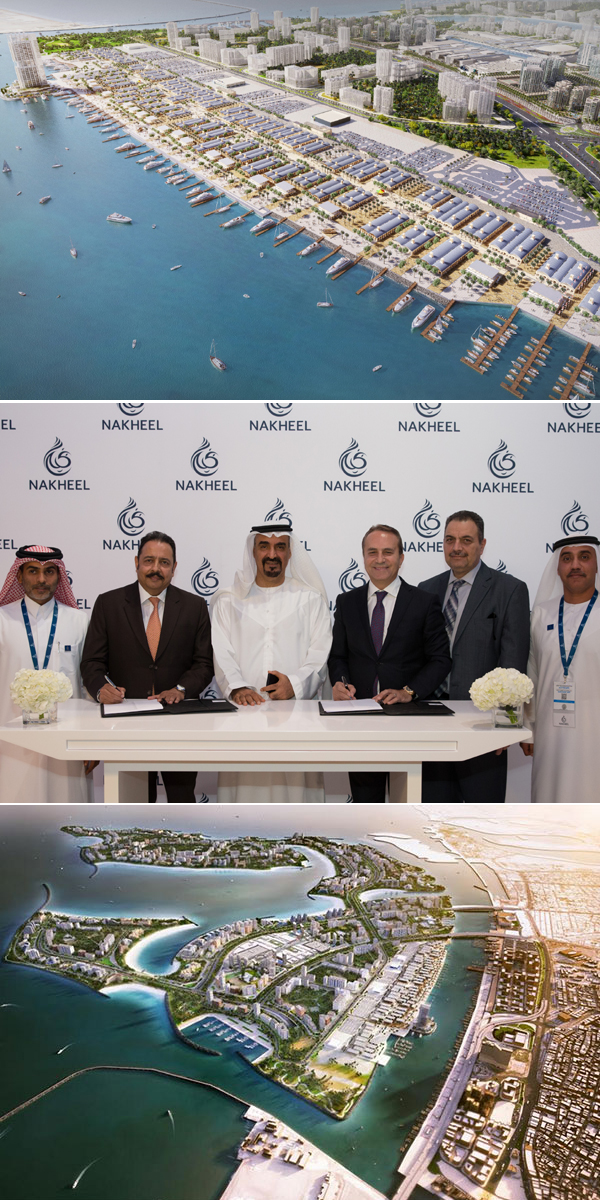 Nakheel officials at the signing ceremony.