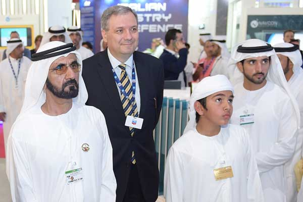 HH Sheikh Mohammed and other officials at the launch