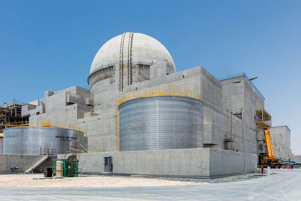 Once the four reactors are online, the facility will deliver<br>up to a quarter of the UAE's electricity needs.