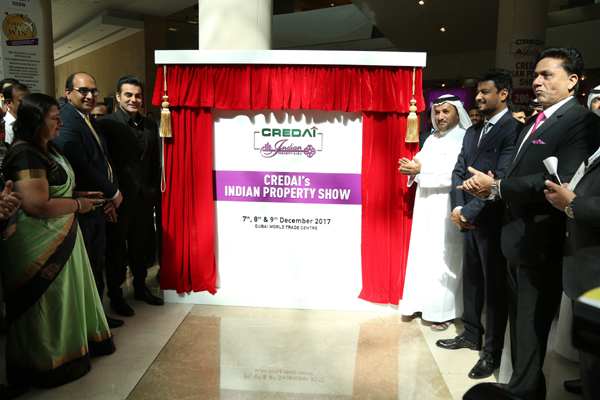 Credai officials at the Indian Property Show opening.