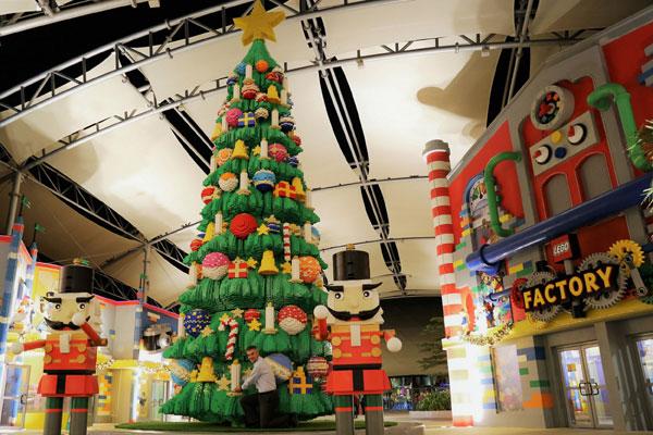 Legoland dubai unveils unique christmas tree