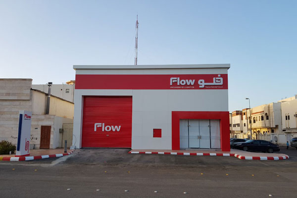 Flow opens first independent pick-up outlet in Madinah