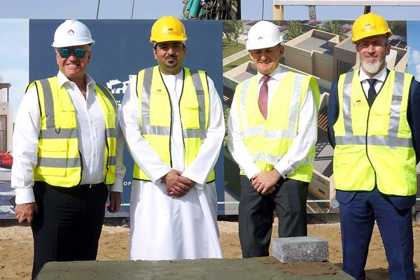 Modon and Arabtec officials at the ground-breaking event.