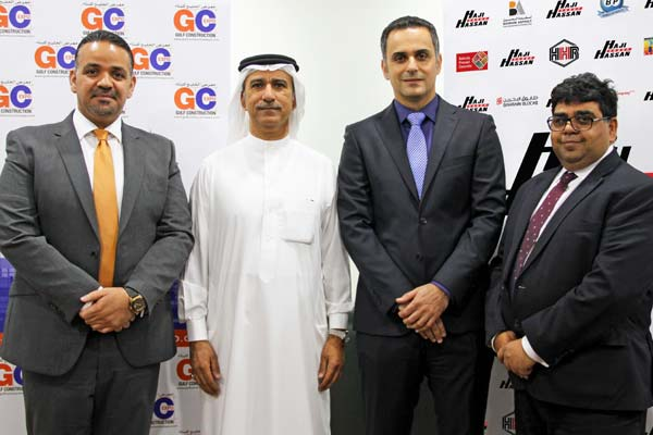 Fouad Al Hamad, Waheed Hassan Al A'ali, Jubran Abdulrahman <br>and Ahmed Suleiman at the signing.