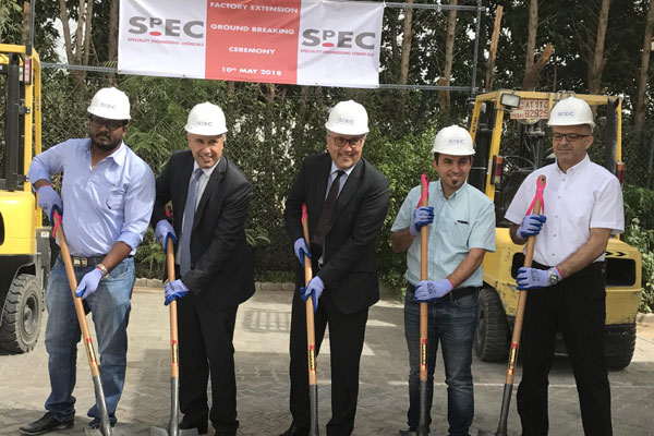 SpEC officials at the ground-breaking ceremony.