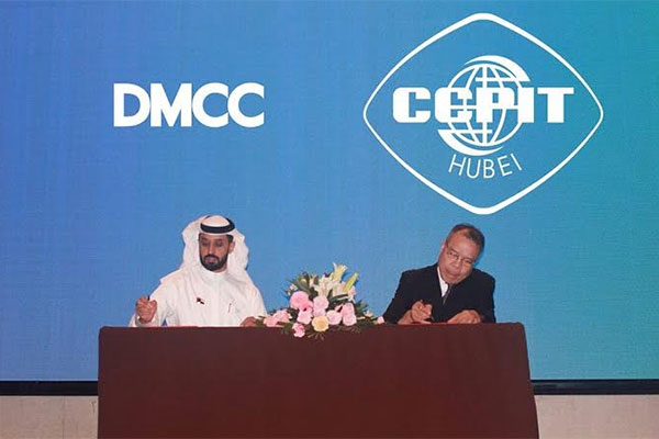 Ahmed Bin Sulayem and Aiming Zhang sign the pact