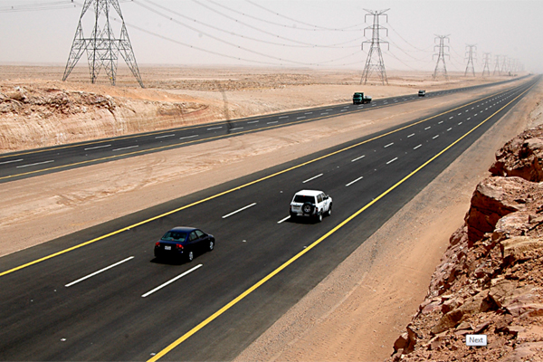A road in Saudi Arabia. Image for representation only