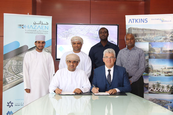 Officials at the signing ceremony in Muscat.