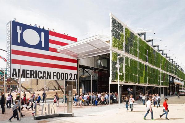 The USA Pavilion at Expo Milano 2015.