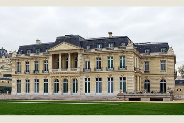 The Château de la Muette in Paris, the OECD headquarters<br>and the ministerial meeting's venue.