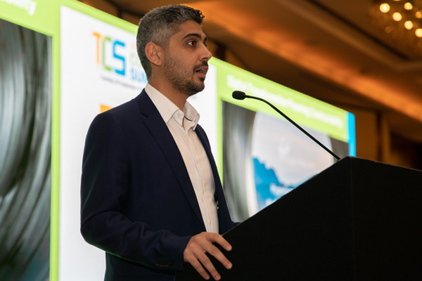 Amjad Almkhalalati at the Construction Summit.