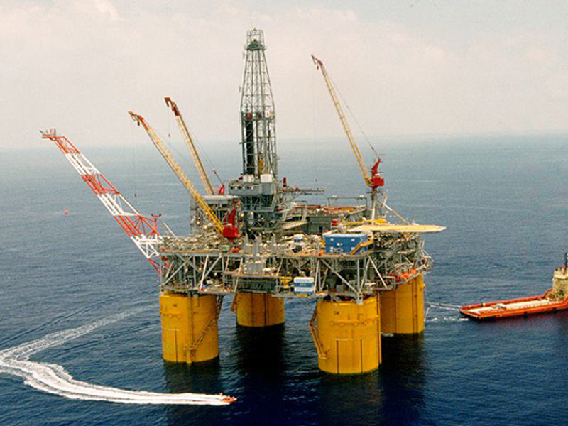 An oil rig off the Gulf of Mexico