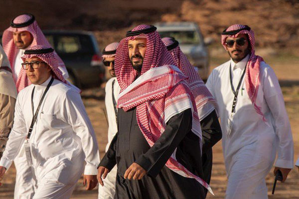 Crown Prince Mohammed bin Salman at the launch ceremony.
