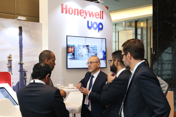 Honeywell UOP stand at the 2018 ME-TECH