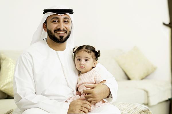Salah Al Jneibi, one of the first residents