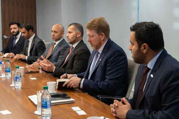 UAE and US officials at the meeting