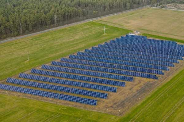 A solar field in Lithuania