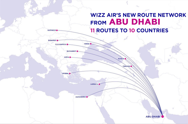 Wizz Air Abu Dhabi To Fly 6 Routes From Oct 1